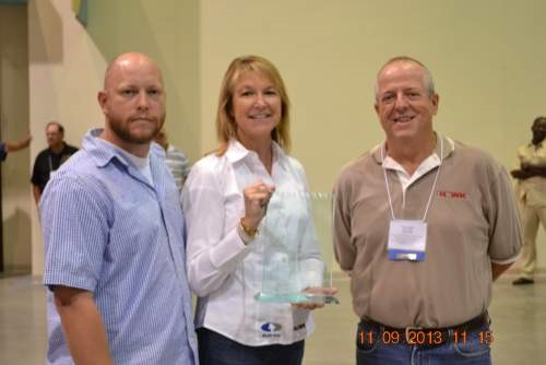 Platinum Sponsors Hawk Scada reps Melanie and Olen Booth with Michael Boyette