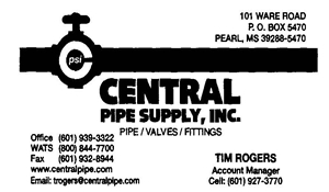 Central Pipe Supply Ad