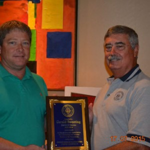 Gerald Sweeting Outgoing District Directors Honored