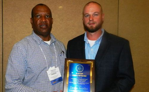 Devin Snyder – 2016 Don Scott Award Outstanding Class IV Pollution Control Operator of the Year