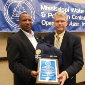 "JIMMIE DALE THOMAS OF LEXINGTON – 2017 JIM MCDONALD WATER SUPPLY OPERATOR OF THE YEAR FOR A CLASS ""D"" WATER SYSTEM"